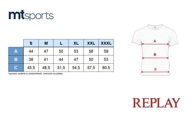 REPLAY Men's Printed Cotton Jersey T-Shirt Grey Melange M34812660-M02 - XL zdjęcie 5