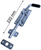 Rygiel do bramy, ocynkowany, długość 220 mm, podstawa szerokości 52 mm
