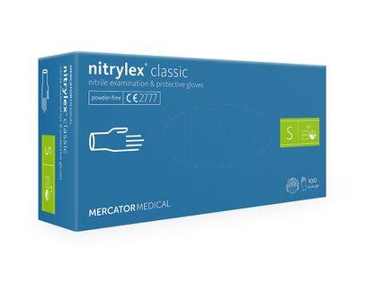Rękawice nitrylowe nitrylex classic blue S 100 szt