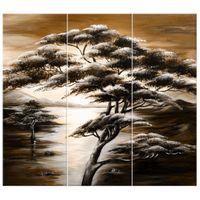 OBRAZ DRUKOWANY  Drzewo snów w brązach 90x80