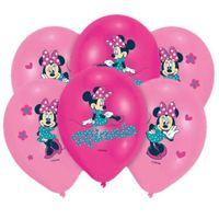 Balony Myszka MINNIE Mouse różowe zestaw 6 szt