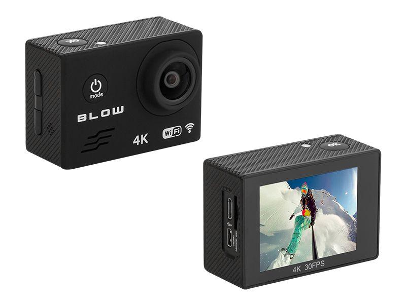 Kamera sportowa Blow Pro4U 4K Wi-Fi + wodoodporna obudowa + pilot zdjęcie 6