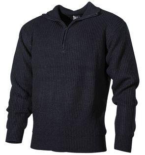 """Sweter """"Troyer"""" niebieski"""