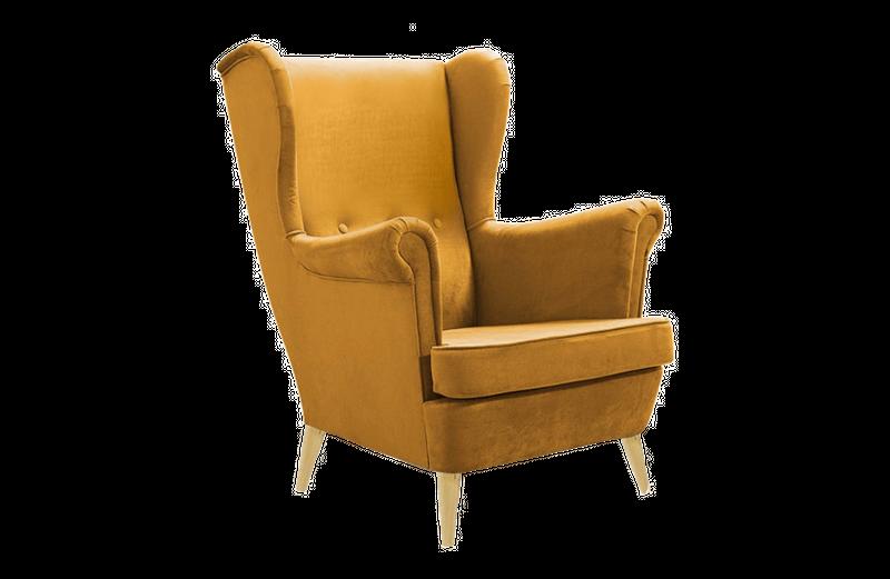 Fotel tapicerowany USZAK skandynawski pikowany SZYBKA DOSTAWA kolory zdjęcie 6