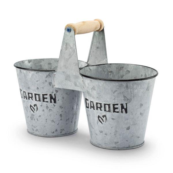 Osłonki Na Doniczki Ocynkowane Garden Szare