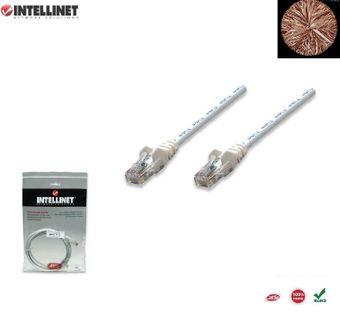 Patch Cord 100% miedź Intellinet Cat.5e UTP, 10m, biały ICOC U5EB-100-WH