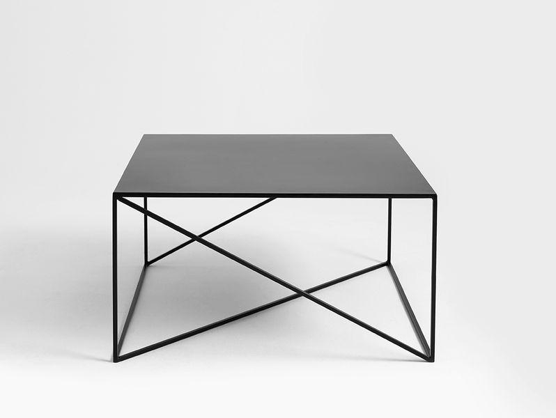Stolik kawowy MEMO METAL 80 - czarny, styl industrialny, design loft na Arena.pl