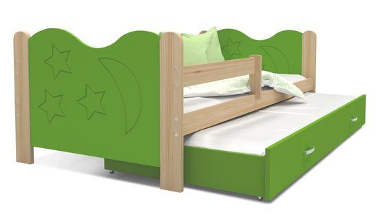 Łóżko dla dzieci MIKOŁAJ P2 190x80 + szuflada + materac