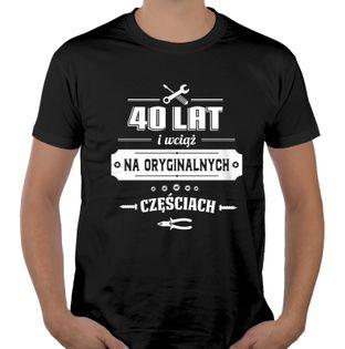 Koszulka męska na urodziny 30 40 50 60 70 lat XL