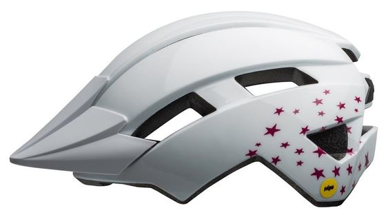 Kask juniorski BELL SIDETRACK II stars gloss white roz. Uniwersalny (50–57 cm)