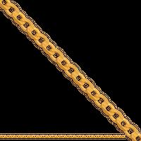 55cm łańcuszek złoty męski pancerka