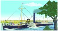 Model Plastikowy Do Sklejania Lindberg (USA) - Fulton Clermont Paddle Wheel Steamship