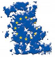 NAKLEJKA NA AUTO SAMOCHÓD MAPA EUROPY UE GRANATOWA