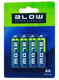 Baterie AA 1,5V alkaliczne LR6 paluszki Blow (4 sztuki)