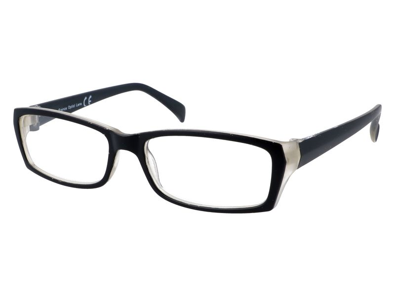 Prostokątne zastępcze okulary plusy czarne +1.00 zdjęcie 2