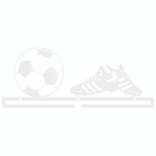 Metalowy wieszak na medale PIŁKA NOŻNA medalówka piłkarze biały