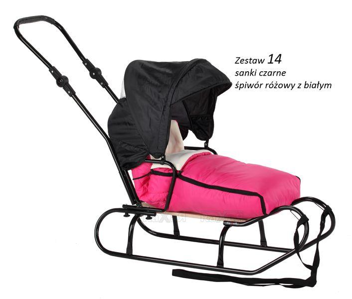SANKI dla dzieci z budką, śpiworem, pchaczem 33 zestawy kolorystyczne zdjęcie 13