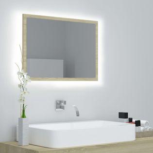 Lumarko Lustro łazienkowe z LED, kolor dąb sonoma, 60x8,5x37 cm, płyta!