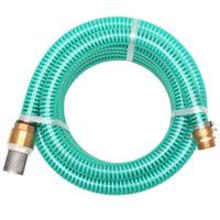 Wąż Ssący Z Mosiężnymi Złączkami, 10 M, 25 Mm, Zielony