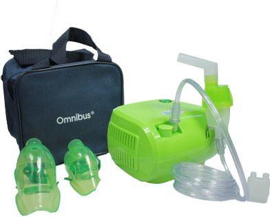 Inhalator kompresorowy nebulizator OMNIBUS BR-CN116 Zielony