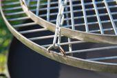 Ruszt stalowy nierdzewny okrągły do grilla wzmacniany z haczykami 60cm