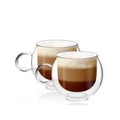 Szklanki termiczne z uchem do kawy Cappucino herbaty 220ml 2szt