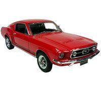 FORD MUSTANG GT 1967 OTW. DRZWI MASKA WELLY 1:24 CZERWONY
