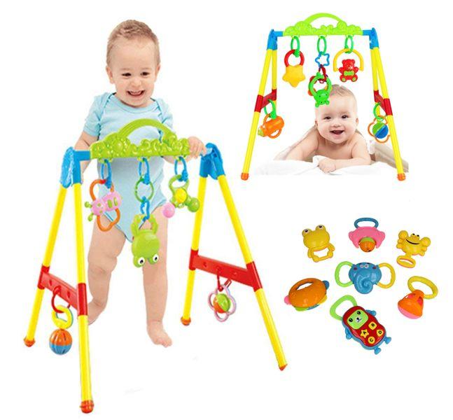 Stojaczek stojak dla dzieci gimnastyczny edukacyjny z grzechotkami Y85 zdjęcie 2
