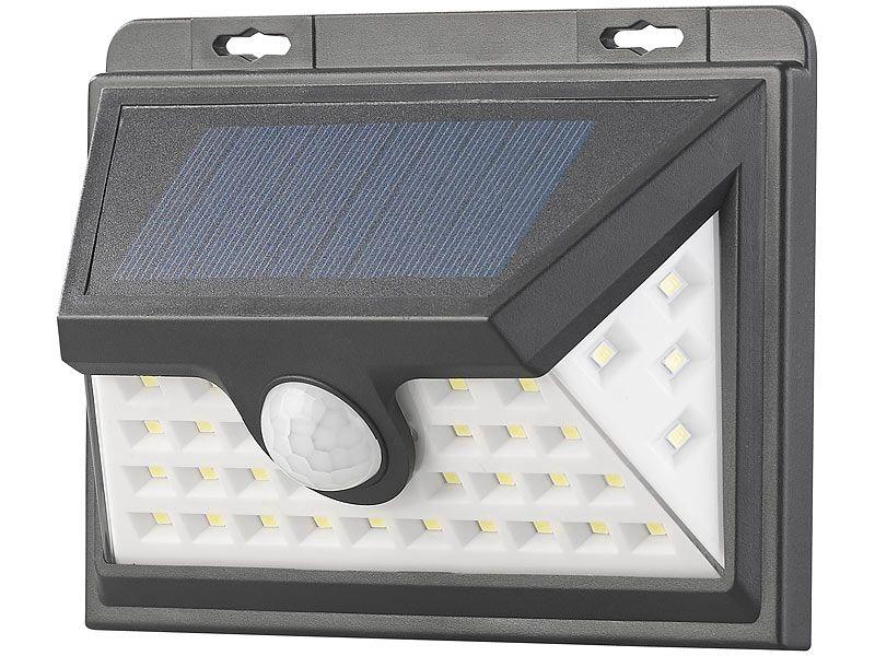 Kinkiet solarny LED z czujnikiem ruchu 350 lm / 7,2 W Luminea WL-735.s zdjęcie 1