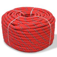 Linka żeglarska z polipropylenu, 12 mm, 50 m, czerwona