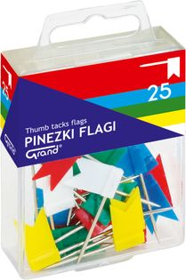 PINEZKI GRAND FLAGA 25 SZT. DO TABLICY KORKOWEJ