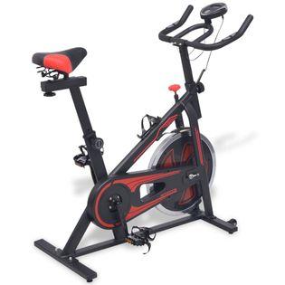 Stacjonarny Rower Treningowy Z Pomiarem Pulsu, Czarno-Czerwony