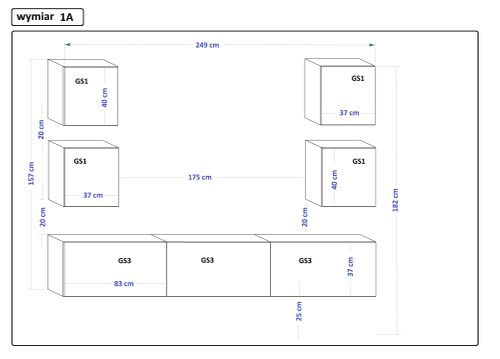 Meblościanka do salonu Zestaw Mebli Xiaomi C35 1A na Arena.pl