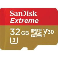 SanDisk Extreme microSDHC - Karta pamięci 32 GB A1 V30 UHS-I U3 100/60 MB/s z adapterem
