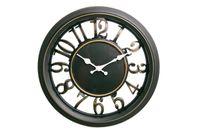 Zegar ścienny czarny retro