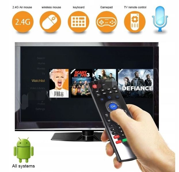 Pilot MX3 PRO Smart TV Air Mouse BOX TV Z MIKROFON zdjęcie 7