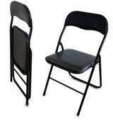 Krzesło Krzesełko składane ogrodowe biurowe CZARNE
