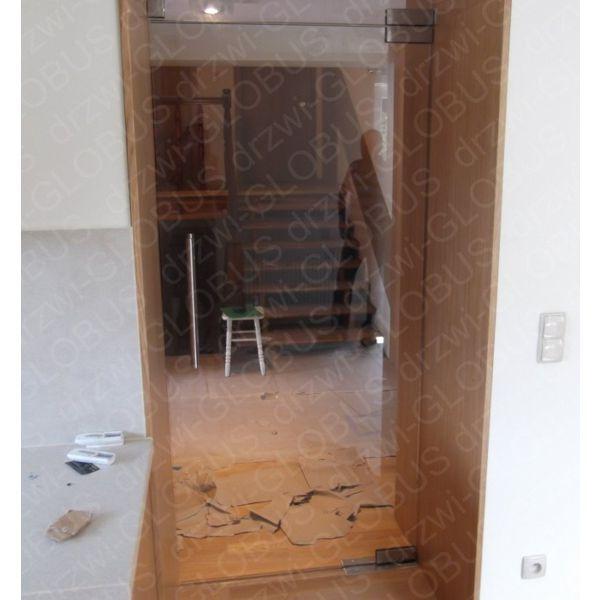 Niewiarygodnie Drzwi szklane wahadłowe dwuskrzydłowe bez wkuwania BIAŁE NA WYMIAR WB73