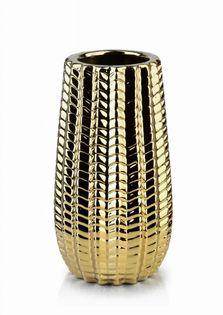 Wazon Ceramiczny 12X12X22Cm Cactus Gold Mondex Htts6758