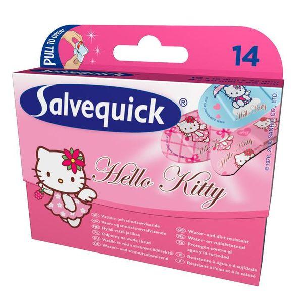 SALVEQUICK Hello Kitty, plastry, 14 sztuk - Długi termin ważności! zdjęcie 1