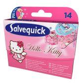 SALVEQUICK Hello Kitty, plastry, 14 sztuk - Długi termin ważności!