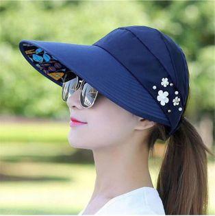 Kapelusz czapka plażowa daszek damska sportowa na słońce ochronna
