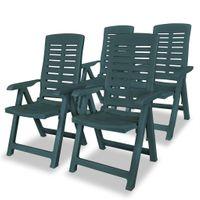 Rozkładane krzesła ogrodowe, 4 szt., zielone, 60 x 61 x 108 cm