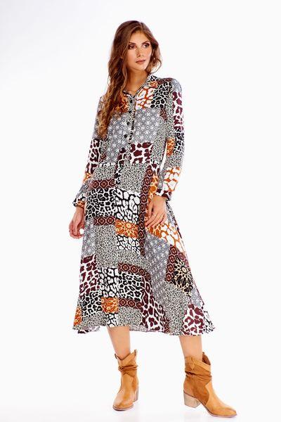 Sukienka w zwierzęcy wzór - Multikolor 40 zdjęcie 1