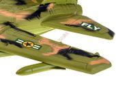 Samolot Wojskowy Myśliwiec + Figurka Flaga Efekty zdjęcie 6