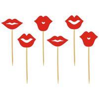 Dekoracja ozdoba CZERWONE USTA walentynki buziaki