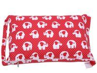 Worek BOBO do przedszkola pokrowiec na pościel - czerwony w słonie