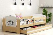 Łóżko pojedyncze FILIP 160x80 dla dzieci + SZUFLADA + BARIERKA zdjęcie 10