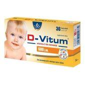 D-Vitum, witamina D dla niemowląt 600j.m., 96 kapsułek twist-off - Długi termin ważności!