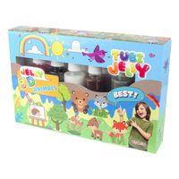 Zestaw Tubi Jelly 6 Kolorów - Zwierzątka